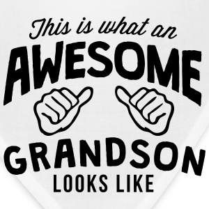 this is what an awesome grandson looks l T-SHIRT - Bandana