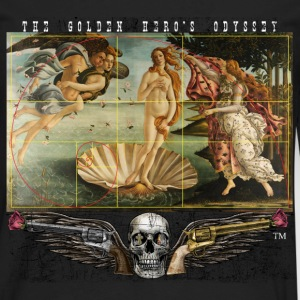 The Birth of Venus & the Golden Rectangle & Spiral T-Shirts - Men's Premium Long Sleeve T-Shirt