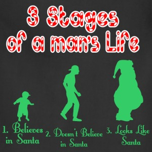 3 Stages Of A Mans Life Santa - Adjustable Apron