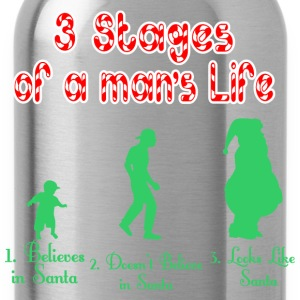 3 Stages Of A Mans Life Santa - Water Bottle