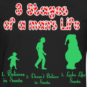 3 Stages Of A Mans Life Santa - Men's Premium Long Sleeve T-Shirt