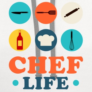 Chef Life T-Shirts - Contrast Hoodie