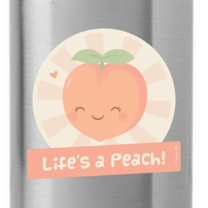 Cute Life is a Peach Bags & backpacks - Water Bottle