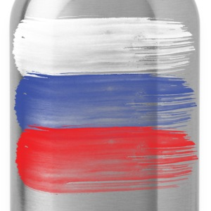 Russia flag russian Tanks - Water Bottle