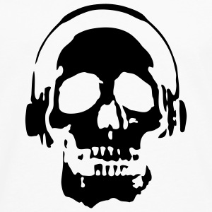 Skull Headphones T-SHIRT - Men's Premium Long Sleeve T-Shirt