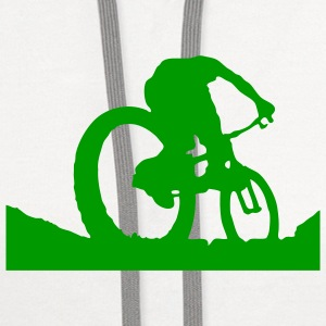 Mountain Bike T-SHIRT - Contrast Hoodie
