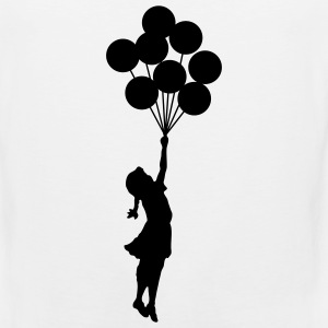 Banksy Balloon Girl T-SHIRT - Men's Premium Tank