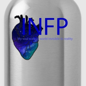 INFP, MBTI, My soul walks a world invisible to  - Water Bottle