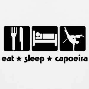 ca02 eat sleep capoeira T-SHIRT - Men's Premium Tank