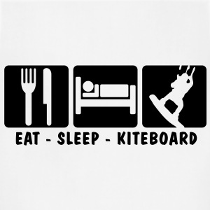 ks02 eat sleep kiteboard T-SHIRT - Adjustable Apron