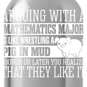 Arguing With Mathematics Major Wrestling Pig - Water Bottle