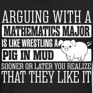 Arguing With Mathematics Major Wrestling Pig - Men's Premium Long Sleeve T-Shirt