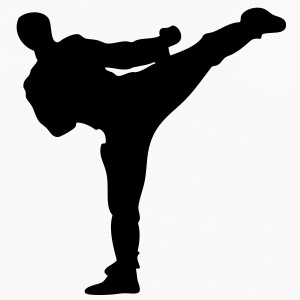karate kick T-SHIRT - Men's Premium Long Sleeve T-Shirt