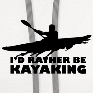 ka03 id rather be kayaking T-SHIRT - Contrast Hoodie