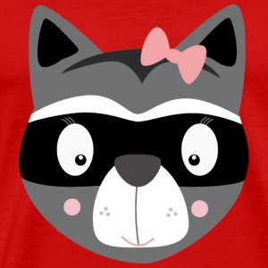 Racoon female Caps - Men's Premium T-Shirt