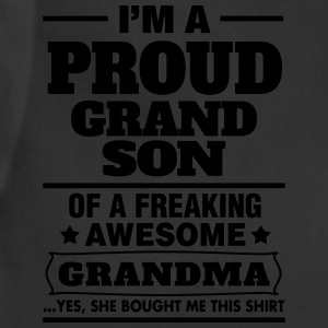 Proud Grandson Of A Freaking Awesome Grandma T-Shirts - Adjustable Apron