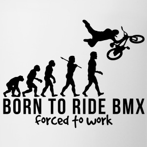 bmx evolution born to ride bmx forced to T-SHIRT - Coffee/Tea Mug