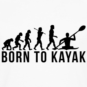 kayaking evolution born to kayak T-SHIRT - Men's Premium Long Sleeve T-Shirt
