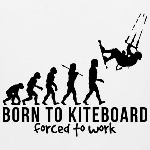 kiteboarding evolution born to kiteboard T-SHIRT - Men's Premium Tank