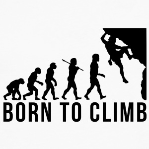 rock climbing evolution born to climb T-SHIRT - Men's Premium Long Sleeve T-Shirt