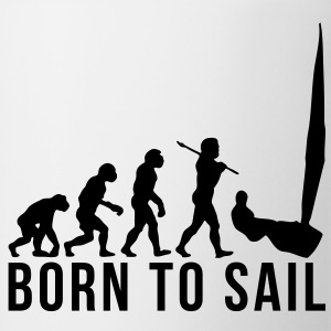 sailing evolution born to sail T-SHIRT - Coffee/Tea Mug