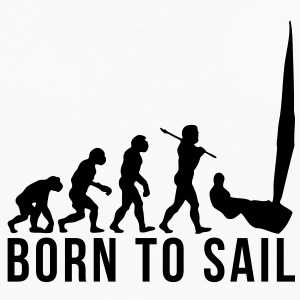 sailing evolution born to sail T-SHIRT - Men's Premium Long Sleeve T-Shirt