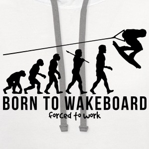 wakeboarding evolution born to wakeboard T-SHIRT - Contrast Hoodie
