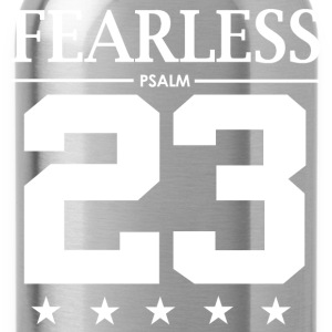 Fearless Psalm 23 - Bible Verse Quote - Water Bottle