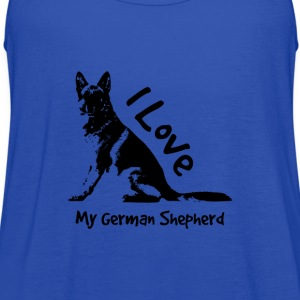 i love my german shepherd T-Shirts - Women's Flowy Tank Top by Bella