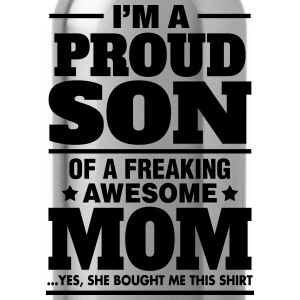 Proud Son Of A Freaking Awesome Mom T-Shirts - Water Bottle