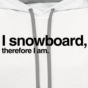 snowboard snowboarder snowboarding 08 T-SHIRT - Contrast Hoodie