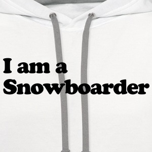 snowboard snowboarder snowboarding 09 T-SHIRT - Contrast Hoodie
