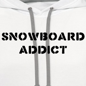snowboard snowboarder snowboarding 12 T-SHIRT - Contrast Hoodie