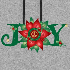 Joy and Peace Long Sleeve Shirts - Colorblock Hoodie