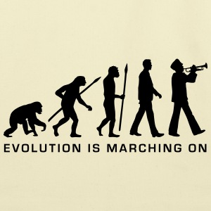 evolution marching band trumpet player_112015_b_1c Women's T-Shirts - Eco-Friendly Cotton Tote