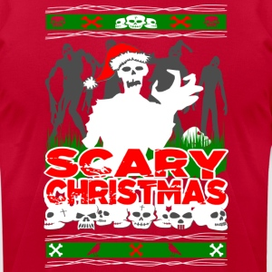 Scary Christmas Zombies Hoodies - Men's T-Shirt by American Apparel