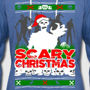 Scary Christmas Zombies Long Sleeve Shirts - Unisex Lightweight Terry Hoodie