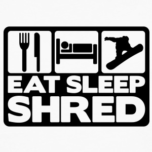 eat sleep shred 02 T-SHIRT - Men's Premium Long Sleeve T-Shirt