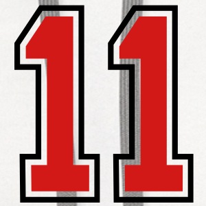 11 sports jersey football number T-SHIRT - Contrast Hoodie