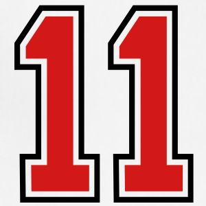 11 sports jersey football number T-SHIRT - Adjustable Apron