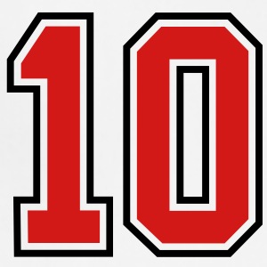 10 sports jersey football number T-SHIRT - Adjustable Apron