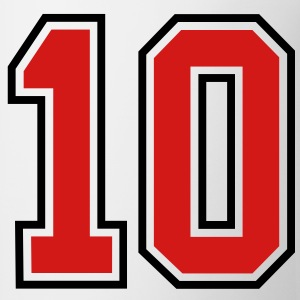 10 sports jersey football number T-SHIRT - Coffee/Tea Mug