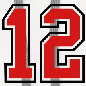 12 sports jersey football number T-SHIRT - Contrast Hoodie