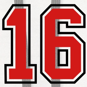 16 sports jersey football number T-SHIRT - Contrast Hoodie