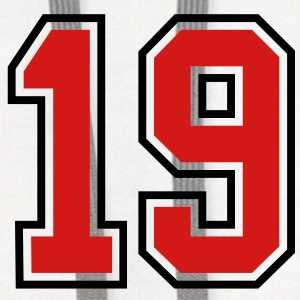 19 sports jersey football number T-SHIRT - Contrast Hoodie