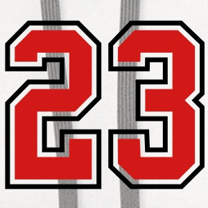 23 sports jersey football number T-SHIRT - Contrast Hoodie
