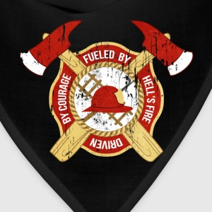 Fueled by Hell's fire Firefighter T-shirt Women's T-Shirts - Bandana