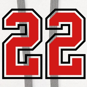 22 sports jersey football number T-SHIRT - Contrast Hoodie