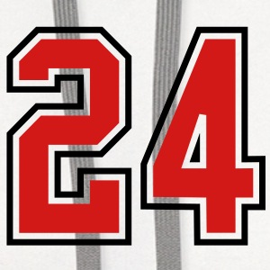 24 sports jersey football number T-SHIRT - Contrast Hoodie