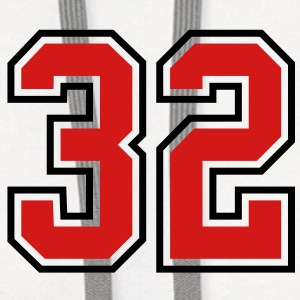 32 sports jersey football number T-SHIRT - Contrast Hoodie
